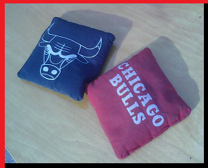 Black & Red - Chicago Bulls - Cornhole Bags