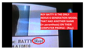 BATTY (Roy) - In the movie Blade Runner