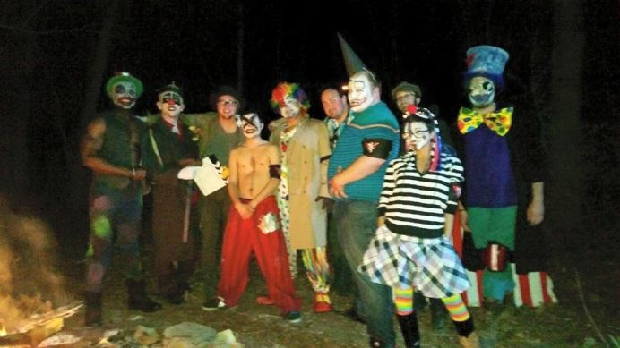 Most of the CAST & CREW for BEWARE OF THE KLOWNS